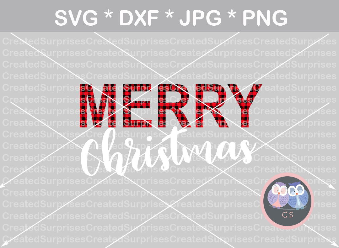Merry Christmas, SVG, DXF, cut file, including 3 different PNG print styles, digital download, personal, commercial, use with Silhouette Cameo, Cricut and Die Cutting Machines