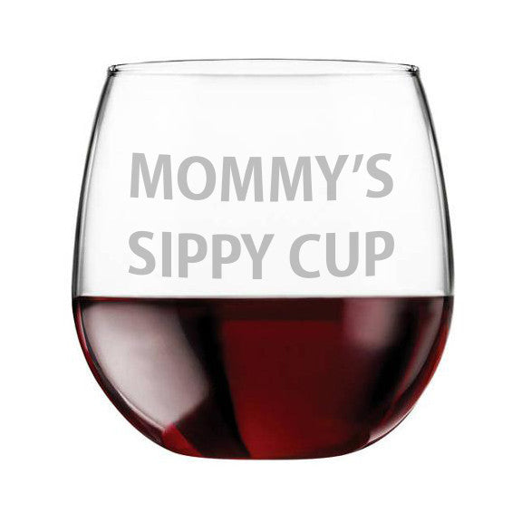 Etched Wine Glass, Funny Saying, Red, White Wine Glass, Sippy Cup, Mother gift, funny wine glass