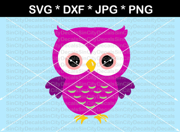 Owl, cute owl, digital download, SVG, DXF, cut file, personal, commercial, use with Silhouette Cameo, Cricut and Die Cutting Machines