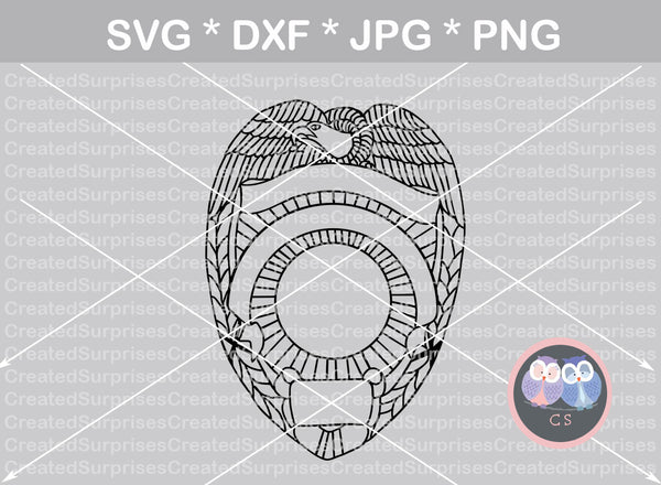 Eagle Police, badge, flag, Hero, digital download, SVG, DXF, cut file, personal, commercial, use with Silhouette Cameo, Cricut and Die Cutting Machines