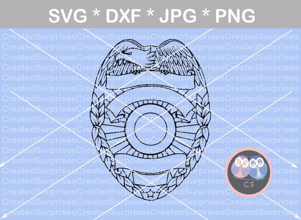 Eagle Police, badge, flag, Hero, digital download, SVG, DXF, cut file,  personal, commercial, use with Silhouette Cameo, Cricut and Die Cutting