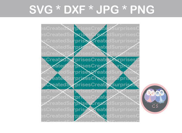 Quilt pattern, farmhouse quilt design, digital download, SVG, DXF, cut file, personal, commercial, use with Silhouette Cameo, Cricut and Die Cutting Machines