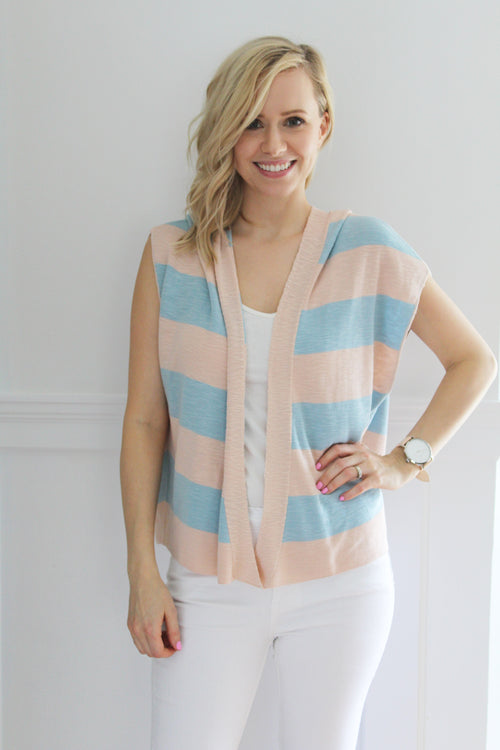 Striped Poncho Top ~ Yerse