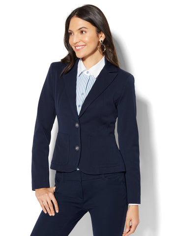 7th Avenue Jacket - Two-Button in Grand Sapphire
