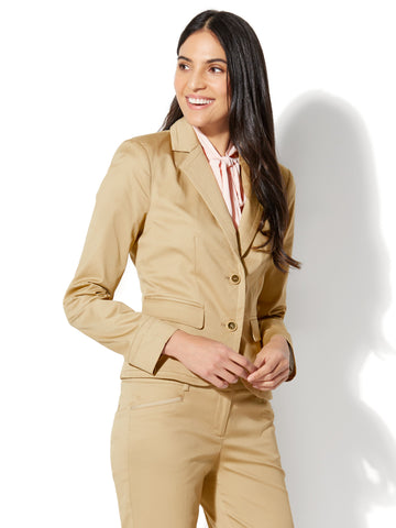7th Avenue Jacket - Two-Button - Signature in Hazelnut Latte