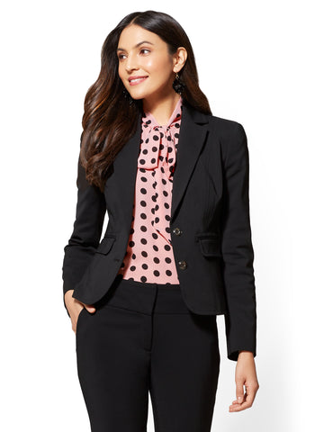 7th Avenue - Two-Button Jacket - All-Season Stretch in Black