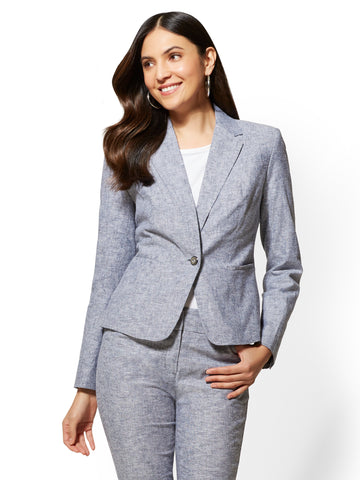 7th Avenue - One-Button Jacket in Grand Sapphire