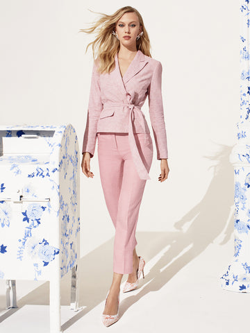 7th Avenue - Pink Belted Jacket in Pink Rouge