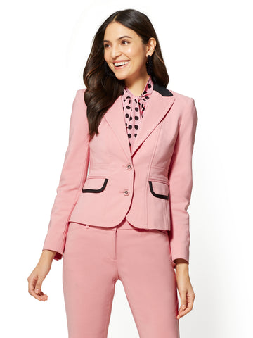 7th Avenue - Two-Button Jacket in Park Avenue Pink