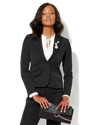 7th Avenue Jacket - One-Button - Signature - SuperStretch in Black
