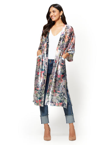 Duster Jacket  in Carlson Grey