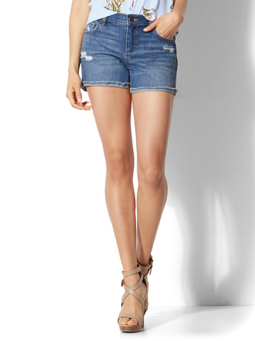 Soho Jeans - 4 Inch Short in Force Blue Wash