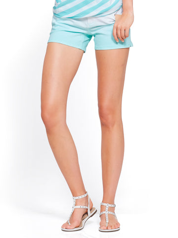 Soho Jeans - Bowery 4 Inch Short - Ombre in Minted Ice