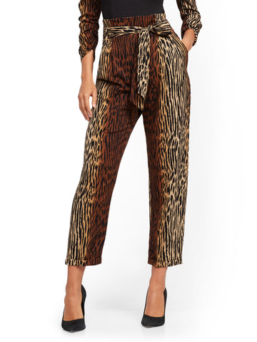 Madie Pant - Ombre Animal Print - 7th Avenue in Black