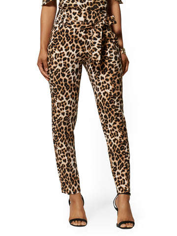 Madie Pant - Leopard Print - 7th Avenue in Luxe Brown