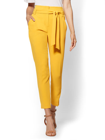 7th Avenue Pant - Paperbag-Waist in Sunflower Garden