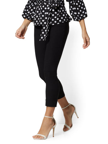 b4a112c7be New York & Company Whitney Crop High-Waist Pull-On Pant in Black