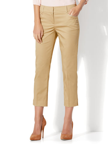 7th Avenue Pant - Crop Straight Leg - Signature in Hazelnut Latte