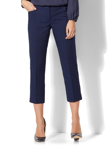 7th Avenue Pant - Crop Straight Leg - Signature in Grand Sapphire