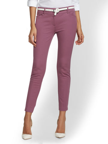 The Audrey Ankle Pant - Solid in Lavish Plum