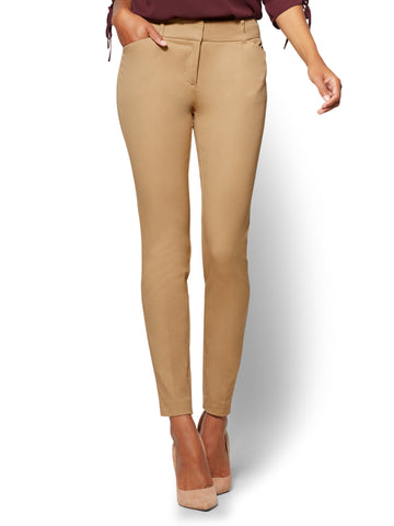 The Audrey Pant - Curvy - Solid in Classic Camel