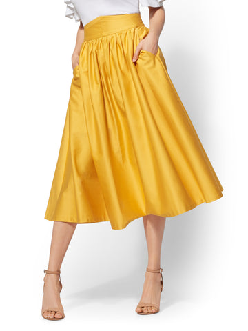 7th Avenue - Yellow Full Skirt in Sunflower Garden