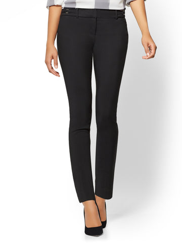 7th Avenue Pant - Slim-Leg Ankle in Black