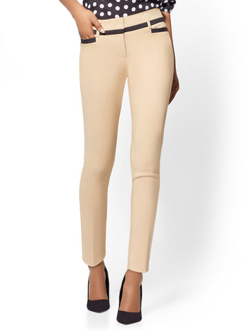 7th Avenue Pant - Piped Ankle in Sensuous Sand