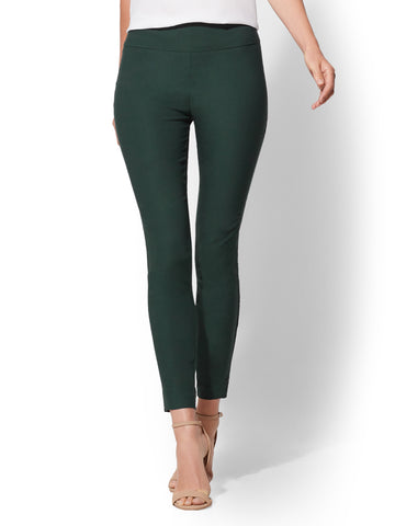7th Avenue Pant - High-Waist Ankle - Stretch in Kelp Green