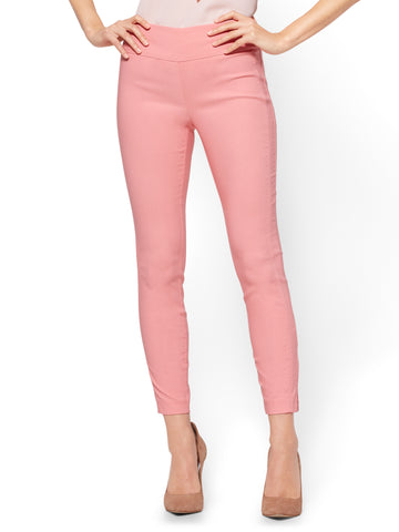 7th Avenue Pant - High-Waist Pull-On Ankle - Ultra Stretch in Peach Blossom
