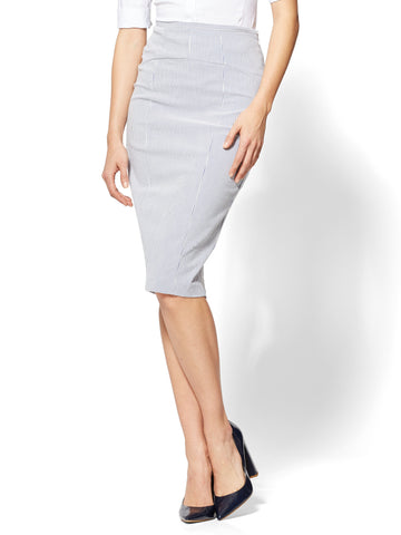 7th Avenue - Lace-Up Back Skirt in Grand Sapphire