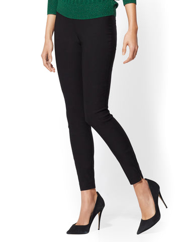 7th Avenue Pant - High-Waist Pull-On Slim Leg in Black