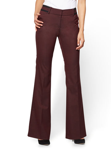7th Avenue Pant - Bootcut - Modern in True Burgundy