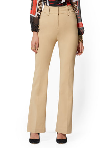 7th Avenue Pant - High-Waist Bootcut in Khaki