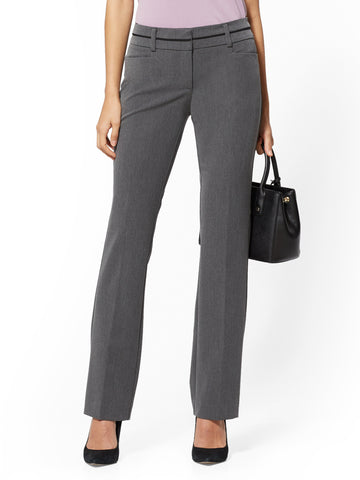 Straight Leg Pant - 7th Avenue in Charcoal Heather Grey