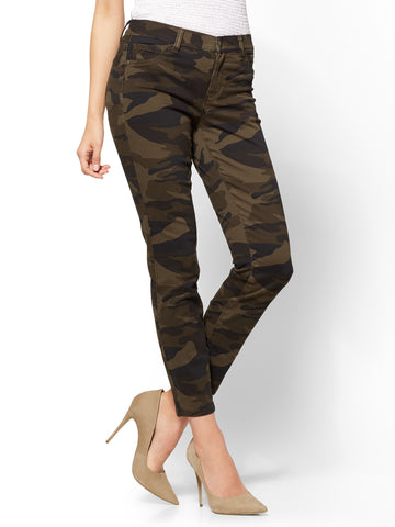 The Crosby Pant - Slim-Leg Ankle in Army Camo