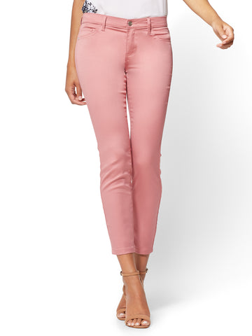 The Crosby Pant - Slim-Leg Ankle in Old Rose