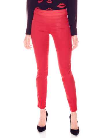 Soho Jeans - Pull-On High-Waist Legging in Flamenco Red