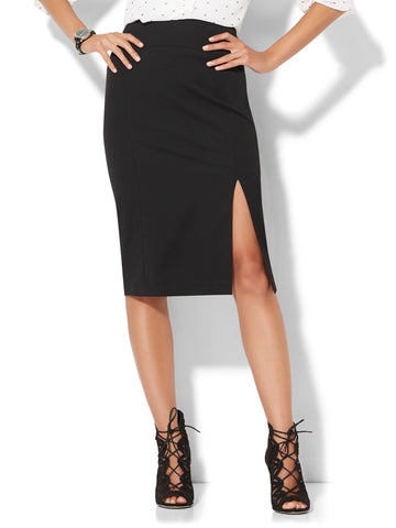 7th Avenue - Pencil Skirt - SuperStretch in Black