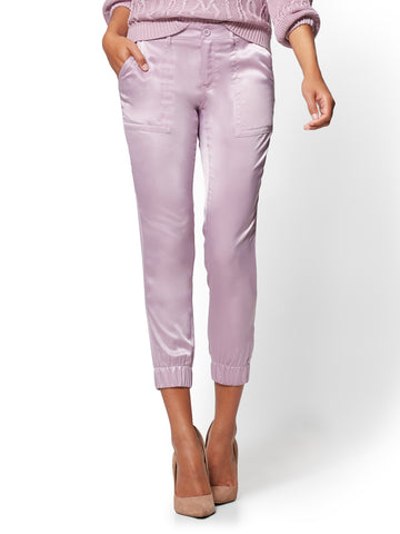Silky Jogger Pant in Violet Naples