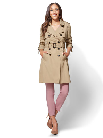 Trench Coat in Hazelnut Latte