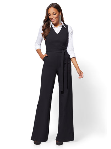 7th Avenue - Jumpsuit - All-Season Stretch in Black
