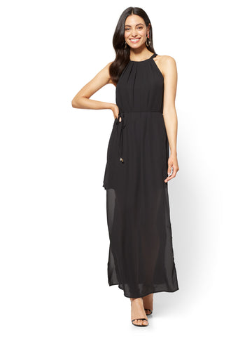Halter Maxi Dress in Black
