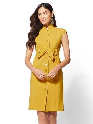 7th Avenue Sheath Dress in Gold Exchange