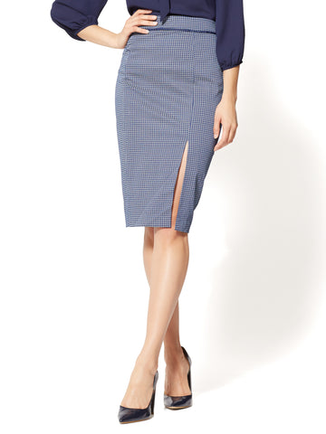 7th Avenue - Pencil Skirt - Navy - Daisy Print in Navy