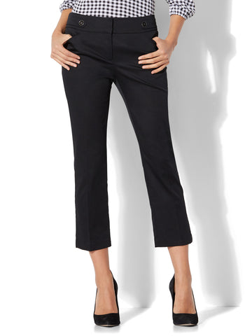 7th Avenue Pant - Crop Straight Leg - Modern in Black