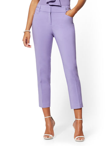 a039006994f6 New York & Company Hardware-Accent Ankle Pant - 7th Avenue in Victory Violet