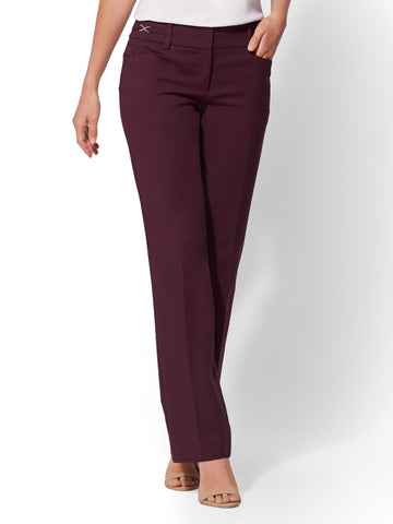 7th Avenue Pant - All-Season Stretch in True Burgundy