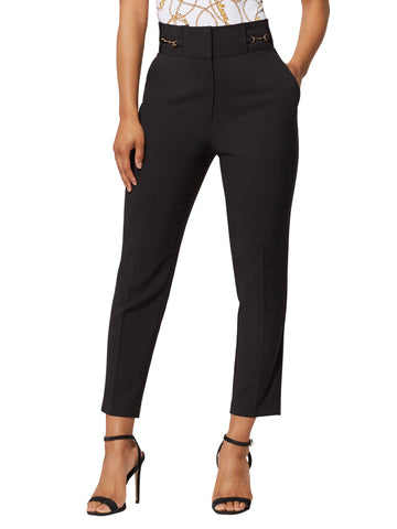 Hardware-Accent Ankle Pant - 7th Avenue in Black