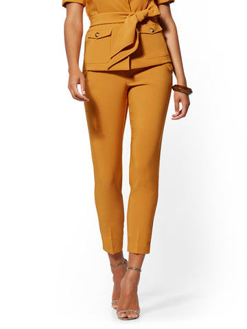 Cargo-Pocket Ankle Pant - 7th Avenue in Honey Glaze